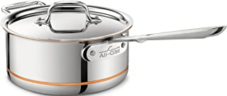 All-Clad 6203 SS Copper Core 5-Ply Bonded Dishwasher Safe Saucepan with Lid / Cookware, 3-Quart, Silver