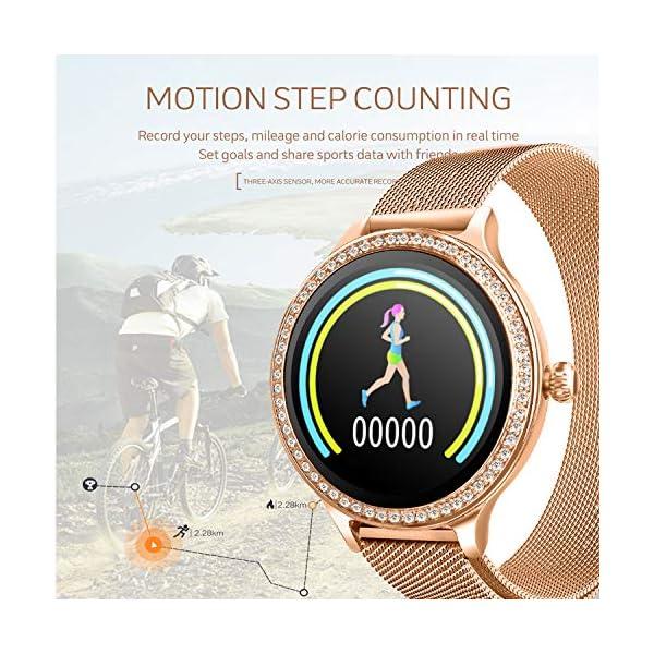 IP68 Fitness Tracker Watch – Smart Watch Bluetooth Podómetro Contador de Pasos Pulsera Inteligente Relojes para Mujeres… 3