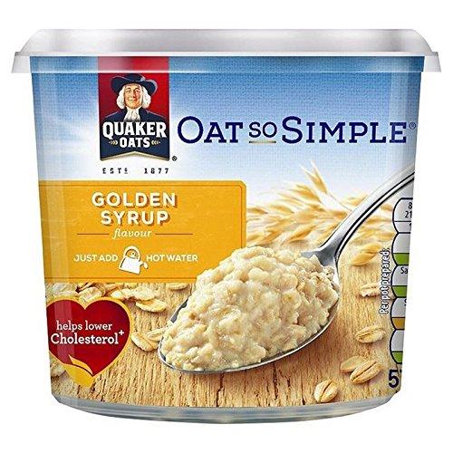 Quaker Avena Così Semplice Sciroppo D'Oro Il Porridge Pot 57G