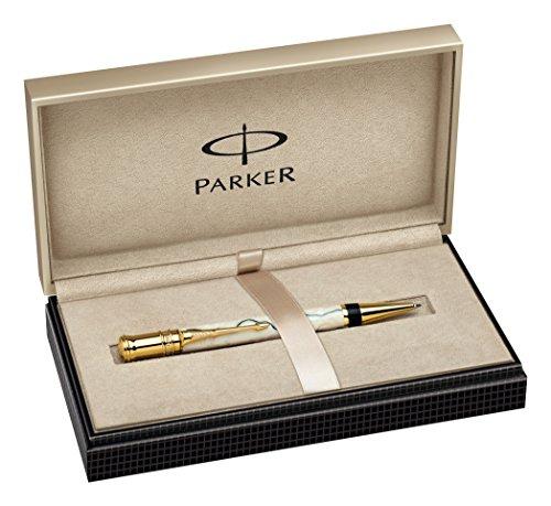 Parker - Duofold: balpen parelmoer & zwart GT