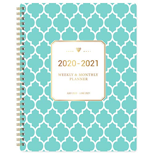 "2020-2021 Planner - Academic Weekly & Monthly Planner with to-Do List, 8"" x 9.8"", July 2020 - June 2021, Twin-Wire Binding, Julian Date, Fresh Geometric Pattern"