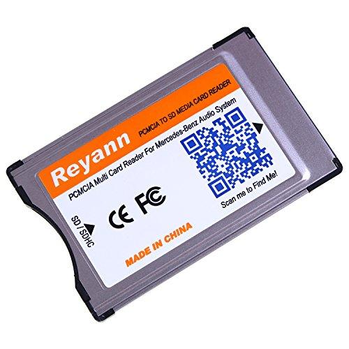 Hikig PC-Card-Adapter auf SD/SDHC, Adapter für Mercedes Benz C-, E-, S-, GLK-, CLS-Klasse, Comand-APS-System mit PC-Card-Steckplatz, unterstützt 32-GB-SDHC PCMCIA Adapter Only