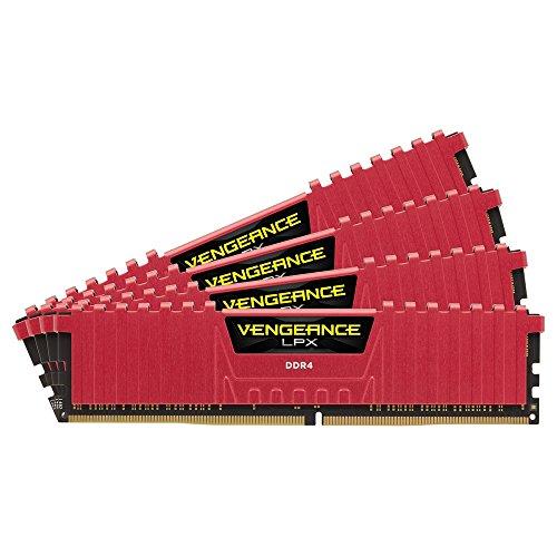Corsair Vengeance LPX Memorie per Desktop a Elevate Prestazioni, 16 GB (4 X 4 GB), DDR4, 3000 MHz, C15 XMP 2.0, Rosso, 288-pin DIMM