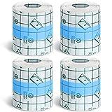 4 Rolls Transparent Stretch Adhesive Bandages...