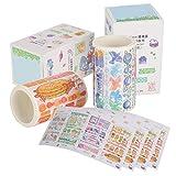 Washi Tape, Cinta Adhesiva Decorativa Decorativa Con Patrón De Dibujos Animados Para Envolver Regalos Para álbumes De Recortes