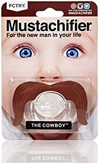 Hipsterkid BPA Free Mustachifier for Kids 0-6 Months in Cowboy