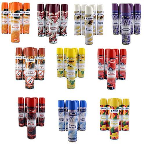 6x 300ml Magnolia Lufterfrischer Spray | Raumduftspray | Duftspray | Spraydose | Raumspray | Aerosol Duftspender