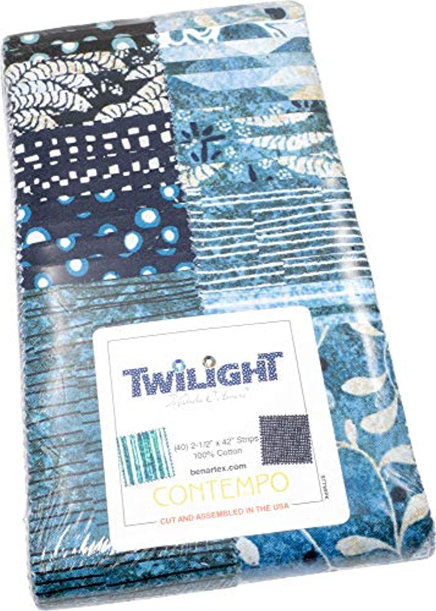 Michele D'Amore Twilight Strip-Pies 40 2.5-inch Strips Jelly Roll Benartex