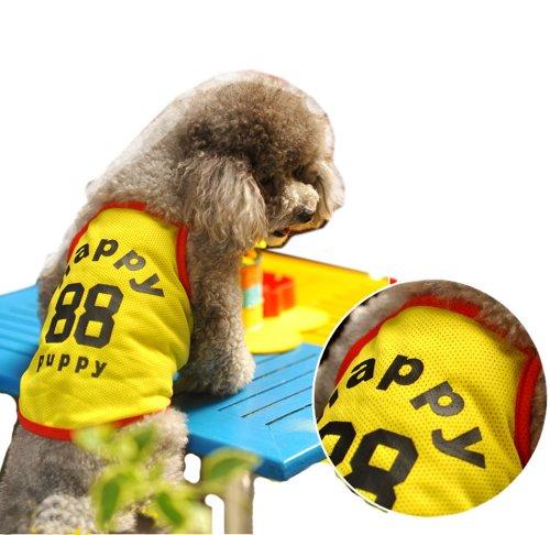 Lovely Puppy Apparel Pet Vêtements Pet Vêtements de sports Grille Jaune, MM