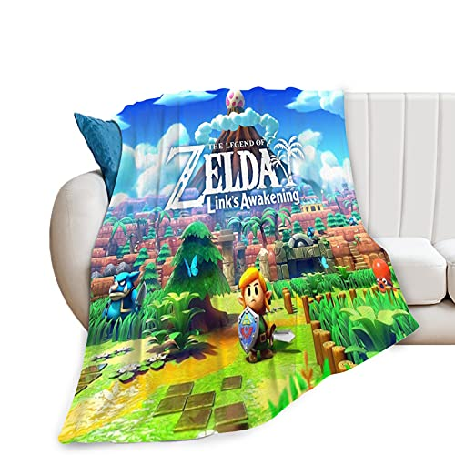 The Legend of Zelda Manta Manta de Forro Polar de Franela Ultra Suave para sofá o Cama Manta cálida para Adultos o niños Links Awakening Manta 50x40in
