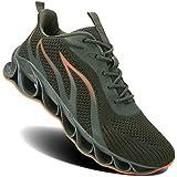 MOSHA BELLE Men Athletic Shoes Army Green Mesh...