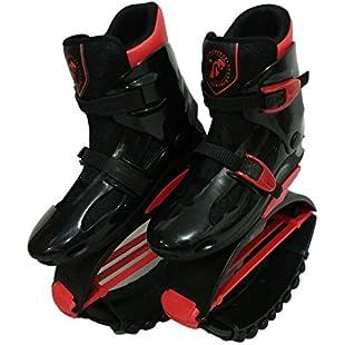 Adults Women Men Anti-Gravity Running Boots Bounce Shoe Jumping Shoes (50-95kg) (Black Red, XL(EU39-41 for 70-90KG))