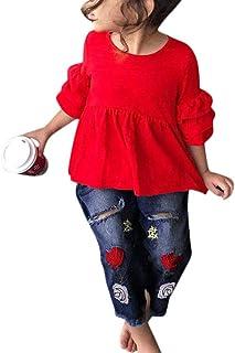 K-youth Conjuntos Bebe Niña Ropa Bebe Niña Invierno Camiseta de Manga Larga Conjunto de Ropa para Niña Top y Pantalones de...
