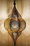 Orientalische Lampe Pendelleuchte Gold Malha 50cm E14 Lampenfassung | Marokkanische Design...