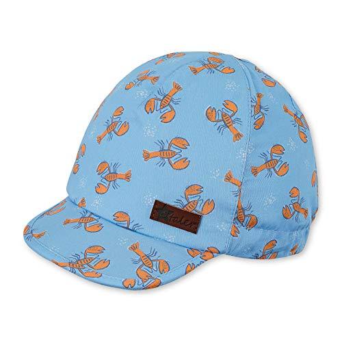 Sterntaler Baby-Jungen Schirmmütze Hummer-Motiv Mütze, Blau (Himmel 325), (Herstellergröße: 45)