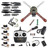 QWinOut DIY 2.4G 8CH APM2.8 6M GPS 433MHZ 3DR Radio telemetry F450 Frame RC Quadcopter 4-Axle UFO Unassembly Kit RTF/ARF Drone