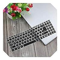 ラップトップキーボードカバークリアプロテクタースキンFor Acer熱望5 A515-43 A515-54 A515 52 57mu A515 52gスイフト3 15.6インチノート-Black-