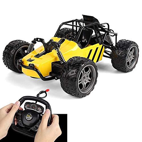 YYQIANG Gran todoterreno, tracción todoterreno, carga de alta velocidad, escalada, simula la conducción de acrobacias, mando a distancia, control remoto de radio, juguete para niños (color: amarillo)