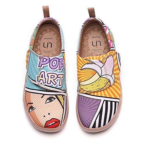 uin Kinder Schuhe bemalte Leinwand Schuhe Casual Fashional Sneaker Pop Art Unisex(34)