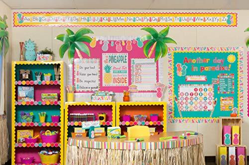Teacher Created Resources Tropical Punch Circles Die-Cut Border Trim Photo #5