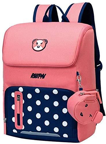 Veel schooltassen voor meisjes, rugzak met meerdere vakken, draagbaar, voor school, vrije tijd, reis, schooltas, studentenrugzak met stippen