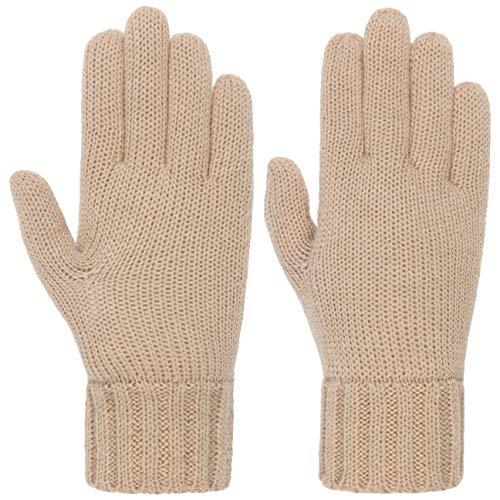 Seeberger Feinstrick Fingerhandschuhe Strickhandschuhe Damenhandschuhe (One Size - beige)