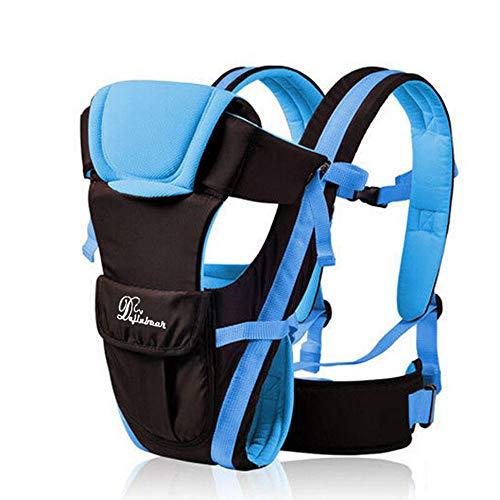 RTYUI Mochila Portabebé Ajustable Ergonómica Transpirable para Bebés Recién Nacidos 39 x 24 x 7.5cm / Azul