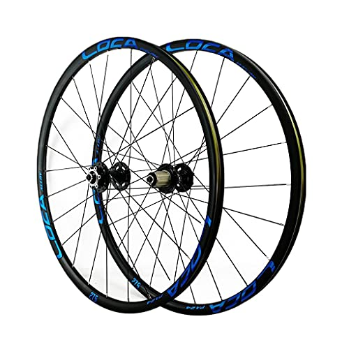 LICHUXIN Mountain Bike Wheel Set Ultralight 26/27.5/29 Inch Bicycle Disc Brake Quick Release (Front Wheel+Rear Wheel) Aluminum Alloy Cycling Wheels (Color : Blue-2, Size : 29in)