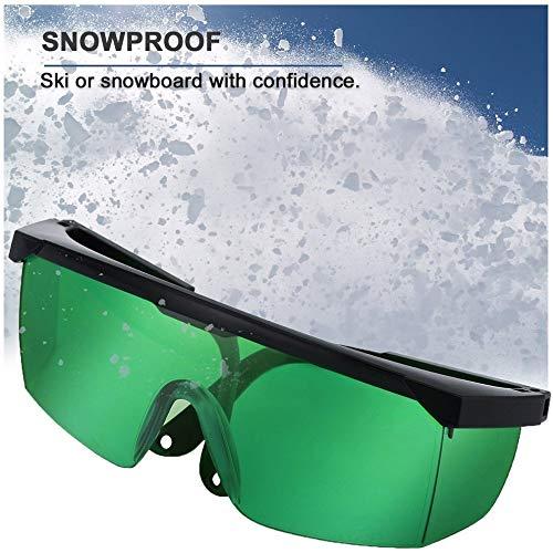 Groene veiligheidsbril / 1/5 / 10 stuks / 800-2000 nm / stofbril / anti-laser bril / anti-mist bril / skibril 1pcs Polen