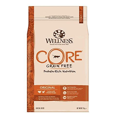 Wellness CORE Original Getreidefreies Katzenfutter Trocken, Hoher Fleischanteil, Pute und Huhn, 10 kg