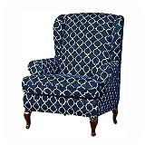 LVLUOKJ Antideslizante Fundas de sillón Elástica Jacquard Relax Fundas de Silla Suave Protectora para Sillón (Color : Navy)