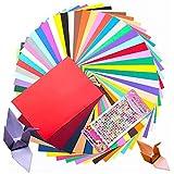 Cartulina cuché A4 de colores Papel para papiroflexia 100 hojas, 100 Hojas colore origami papel Cartulina de colores Papel para Origami A4 ,20 Colores Papel para Origami,Grosor de 230g/m²