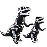 LLBBSS Halloween Spoof Inflatable Toy Ribs Tyrannosaurus rex Inflatable Costume Cosplay Costume