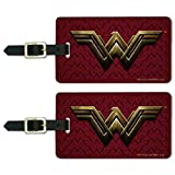 Justice League Movie Wonder Woman Logo Luggage ID Tags Carry-On Cards - Set of 2