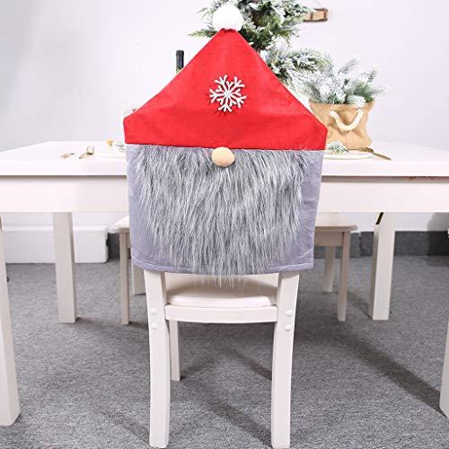 Allegorly Weihnachten Dining Stuhlhusse Weihnachtsdeko Nikolausmütze Stuhlabdeckung Stuhlbezug für Weihnachtstisch Dekoration