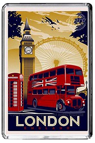 CFL F210 LONDON FRIDGE MAGNET ENGLAND VINTAGE TRAVEL PHOTO MAGNETICA CALAMITA FRIGO