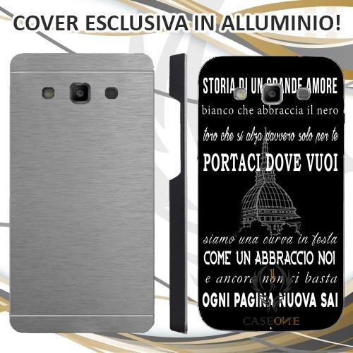 Custodia Cover Case Coro Juventus Nero Bianco per Samsung Galaxy Grand Neo Plus in Alluminio