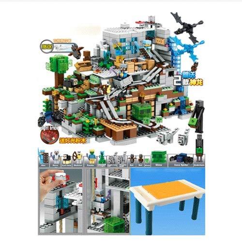 Manson Mi Tiempo Que establecía Building Blocks Juguetes Puzzle montado Máquina Cueva de Juguetes for niños Manual de Montaje 4888 Piezas Minecraft Smith Limo