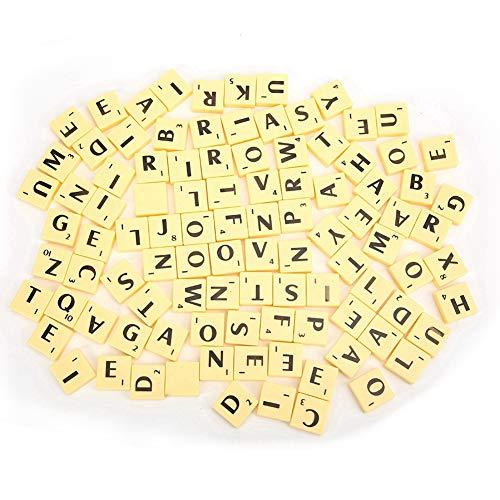 Buchstaben Fliesen interessante Brettspiel Kunststoff Fliesen Buchstaben Set Spiel Stücke Kunst und Handwerk Vintage Lernspielzeug für Kinder Jungen und Mädchen
