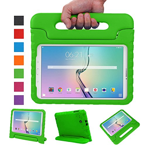 NEWSTYLE Tab E 9.6 Case - Shockproof Light Weight Protection Handle Stand Kids Case for Samsung Galaxy Tab E/Tab E Nook 9.6 Inch 2015 Tablet for Both WiFi and Verizon 4G LTE Version (Green)