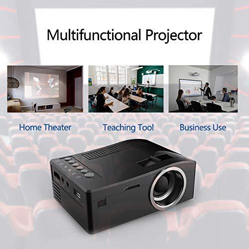 Meiyiu HD 1080P TFT LCD Home Mini Projector TV Multi-Media Player Theater Home Cinema Video Projector Black US Plug