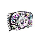 Bolsa de maquillaje Colorido raya Dot Doodle Cosmetic Pouch Clutch