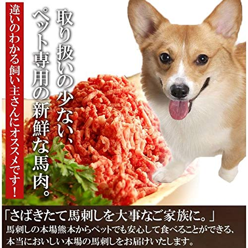 ペット用馬刺しとして 犬用馬肉ミンチ たっぷり1kg