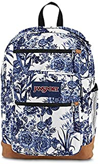 JanSport Cool Student Backpack White Artist Rose