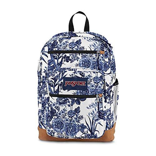 JanSport Cool Student Backpack White Artist Rose