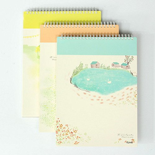 Bazaar Creative Vintage Koreaanse briefpapier tuin II A4 blanco schetsboek graffiti high-end notebook