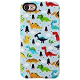 GOLINK Case for iPhone 7/iPhone 8, Matte Finish Cute Series IMD Slim-Fit Anti-Scratch Shock Proof Anti-Finger Print Flexible TPU Gel Case for iPhone 7/8 4.7 inch Display-Dinasour