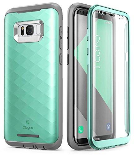 Clayco Funda Galaxy S8 Plus [Hera Series] Carcasa Resistente con Protector de Pantalla Integrado Compatible con Samsung Galaxy S8+ Plus (Version 2017)