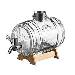 Kilner Clip Top dispensador de bebidas redondo P001, 1 Litre Barrel, 1