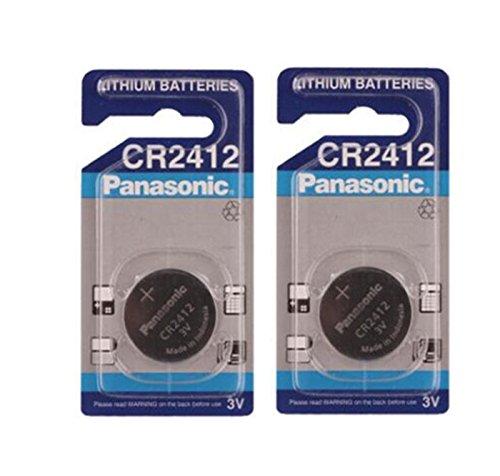 Panasonic CR2412Lithium 3V Batterie–Batterie, Lithium, 3V, 100mAh, Edelstahl, 2g